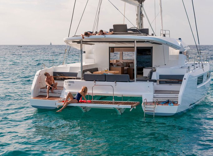 Catamaran boat rental in Nassau, Bahamas