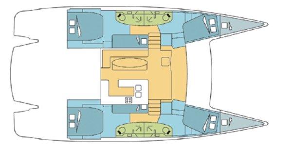 Catamaran boat for rent in Placencia