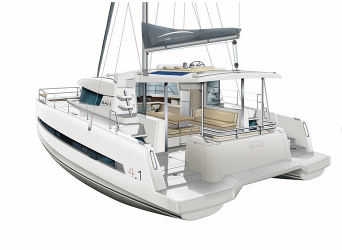Catamaran boat for rent in Vieux Port