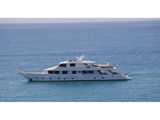 Sail the beautiful waters of Athens on this cozy  Perama Shipyards 102