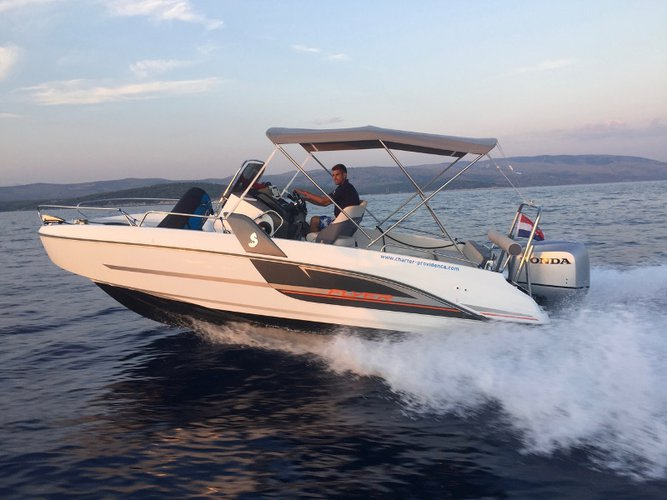 Relax on board our motor boat charter in Trogir