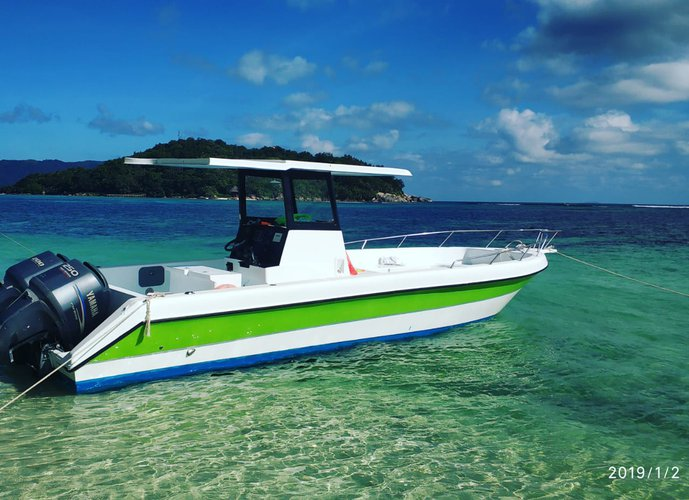 Hop aboard this amazing motor boat rental in Seychelles!