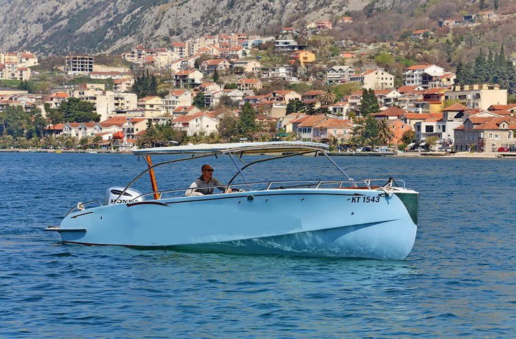 Center console boat rental in kotor, Montenegro