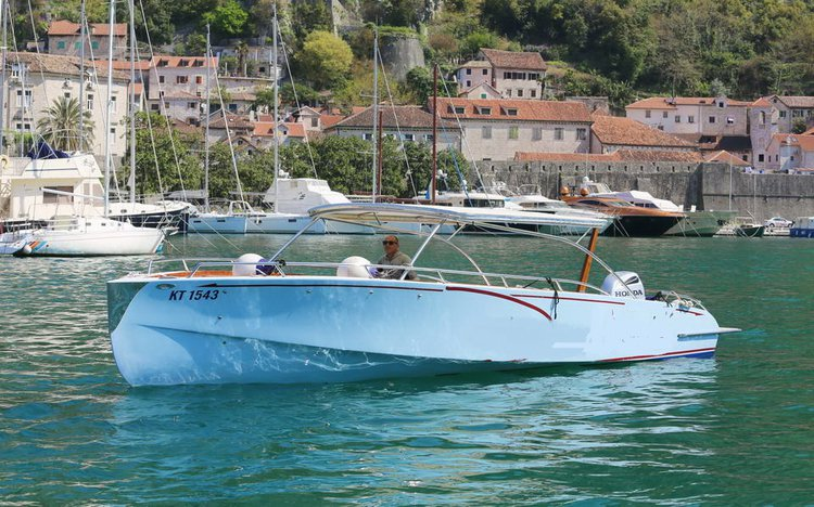 Go on for an anforgettable nautical adventure on this elegant motor boat