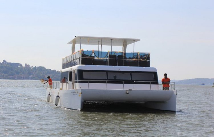 Experience Goa on board this elegant catamaran