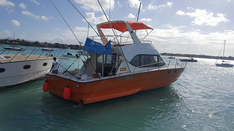 Up to 15 persons can enjoy a ride on this Cuddy cabin boat