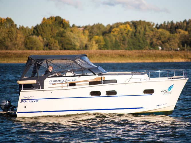 Get on the water and enjoy Wilkasy in style on our Delphia Yachts Nautika MC