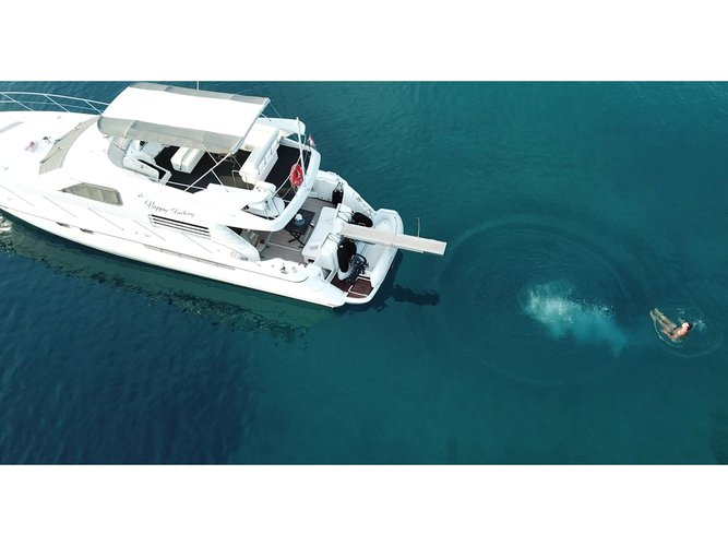 Climb aboard this motor boat for a great sailing experience!