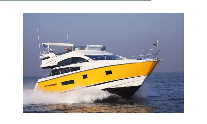 Take this awesome 42 motor boat for a spin!