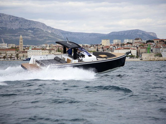 Enjoy luxury and comfort on this Kaštel Gomilica motor boat charter