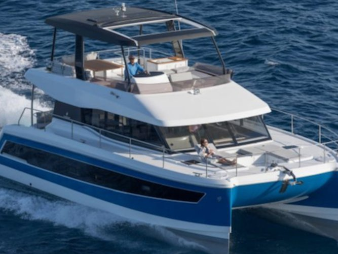 Enjoy luxury and comfort on this Slano motor boat charter
