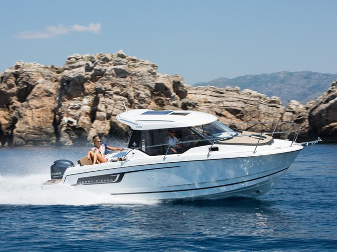 Rent this Jeanneau Merry Fisher 795 for a true nautical adventure