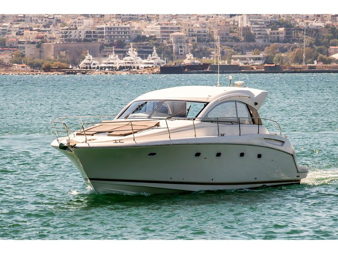 Enjoy luxury and comfort on this Jeanneau Prestige 42s in Athens