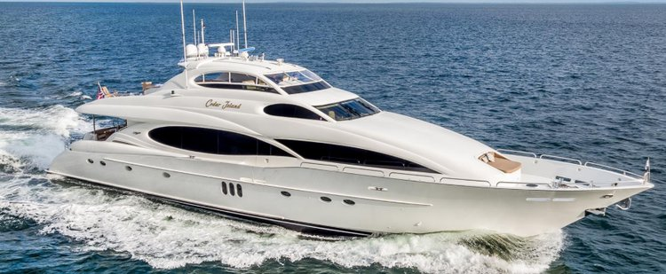Let the wind Whip through your hair aboard Lazzara 106'
