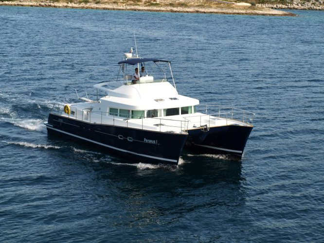 Rent this Lagoon Lagoon Powercat 43 for a true nautical adventure