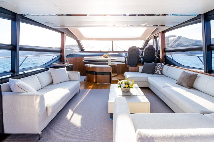 Discover Sag Harbor surroundings on this 72 Princess boat
