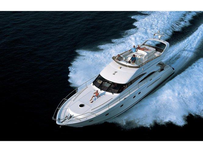Jump aboard this beautiful Princess Yachts Princess 61