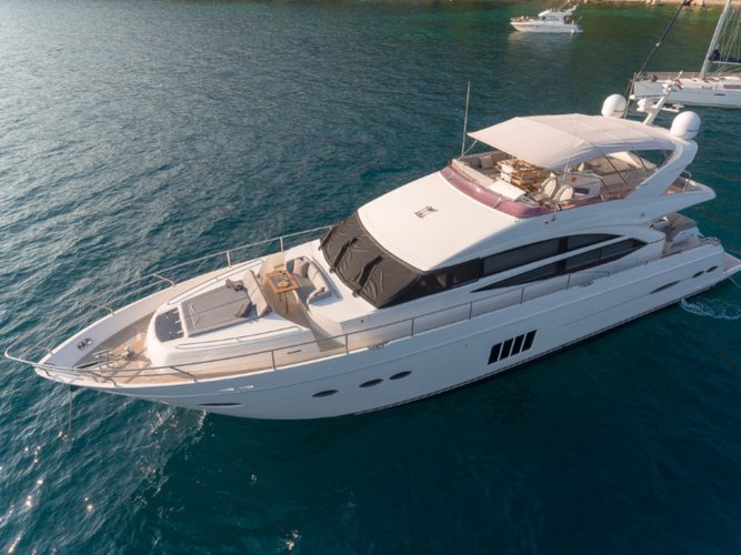 All you need to do is relax and have fun aboard the Princess Yachts Princess 72 Fly