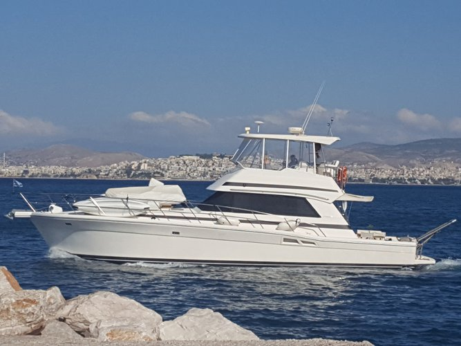 Charter this amazing motor boat in Athens