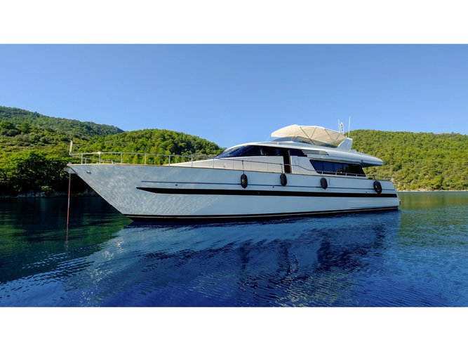 Experience Bodrum on board this elegant motor boat