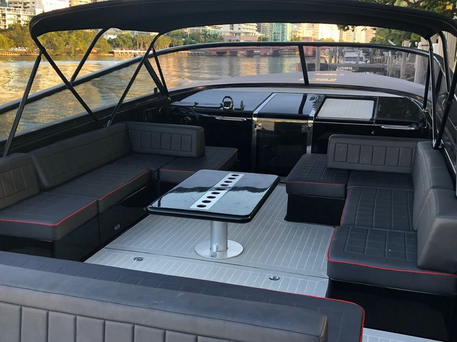 Discover Miami Beach surroundings on this 55 VANDUTCH boat