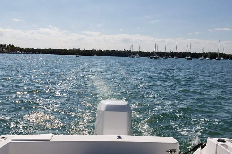 Discover Miami Beach surroundings on this 240 Coastal Wellcraft boat