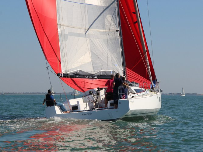 Sail the beautiful waters of Ajaccio on this cozy  Pogo 12.5