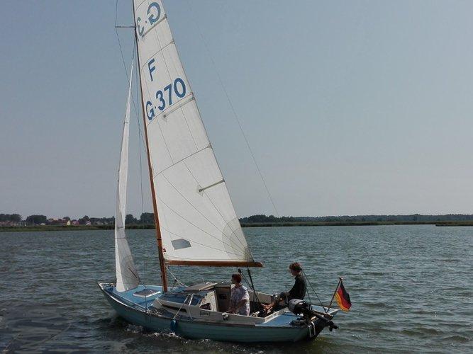 Experience Kröslin on board this elegant sailboat
