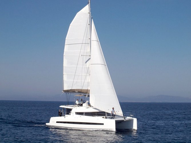 Enjoy luxury and comfort on this Bali Catamarans Bali 4.3 Bareboat AQUA in Capo d'Orlando