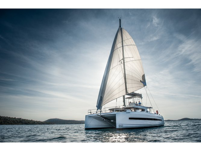 Climb aboard this Bali Catamarans Bali 4.5 - new model! for an unforgettable experience