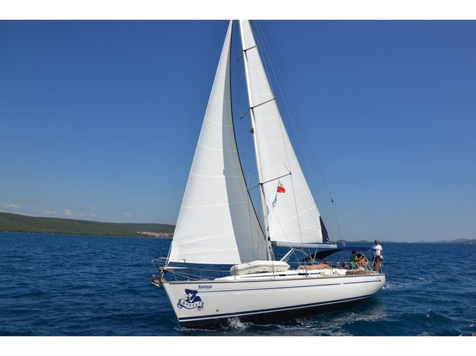 Hop aboard this amazing sailboat rental in Pirovac!