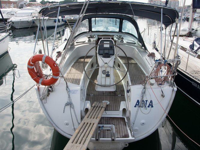 Sail the beautiful waters of Biograd on this cozy Bavaria Yachtbau Bavaria 38 Cruiser