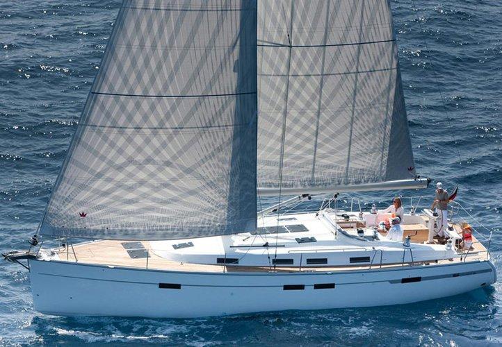 Jump aboard this beautiful Bavaria Yachtbau Bavaria 45 BT '12