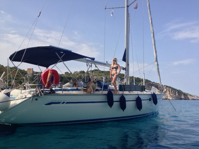 Experience Corfu on board this elegant sailboat