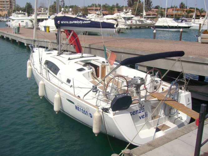 Sail Furnari, IT waters on a beautiful Beneteau Oceanis 43