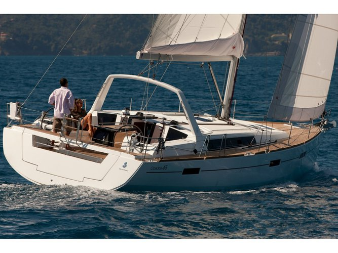Climb aboard this Beneteau Oceanis 45 (2018) for an unforgettable experience