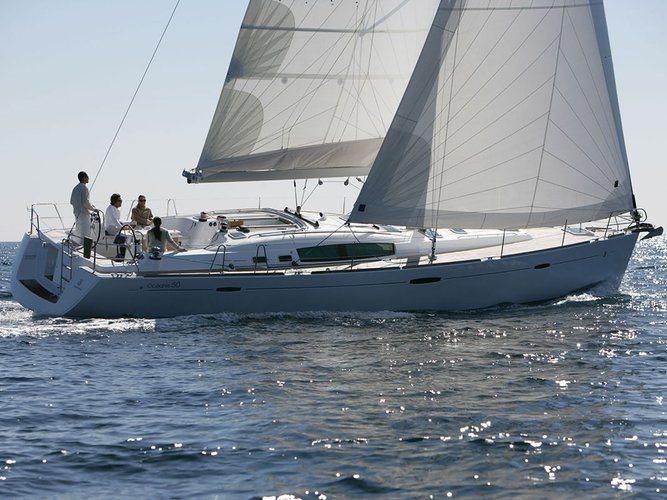 Enjoy luxury and comfort on this Beneteau Oceanis 50 in Athens