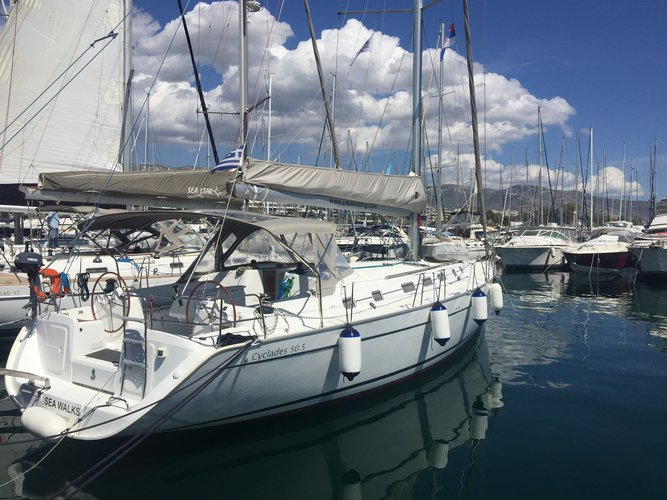 Sail Athens, GR waters on a beautiful Beneteau Cyclades 50.5