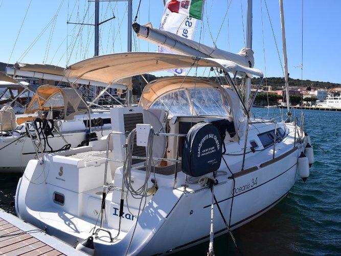 Sail Carloforte, IT waters on a beautiful Beneteau Oceanis 34