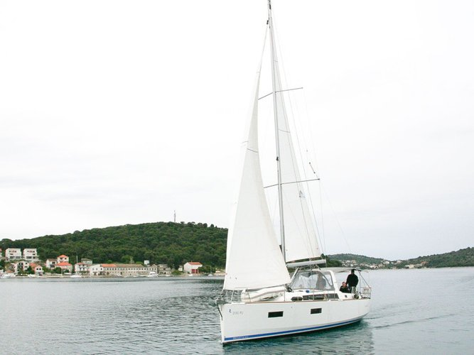Enjoy luxury and comfort on this Beneteau Oceanis 38 in Rogoznica
