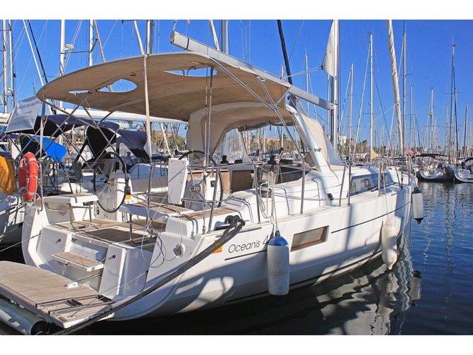 Sail Palma de Mallorca, ES waters on a beautiful Beneteau Oceanis 41.1 (2 Heads)