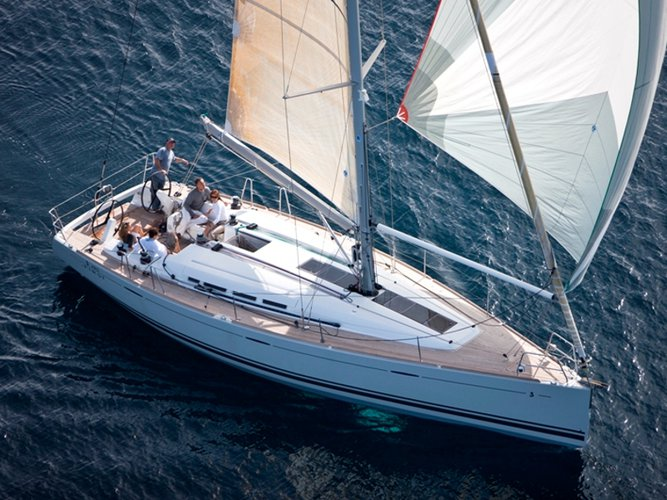 Sail the beautiful waters of Kaštel Gomilica on this cozy Beneteau Beneteau First 45