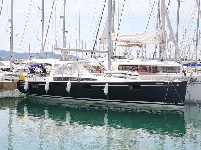 Experience Sukošan on board this elegant sailboat
