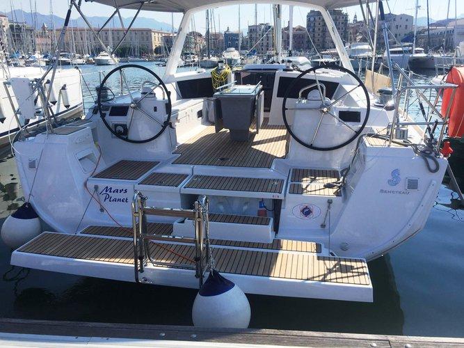 Enjoy luxury and comfort on this Beneteau Oceanis 48 in Marsala