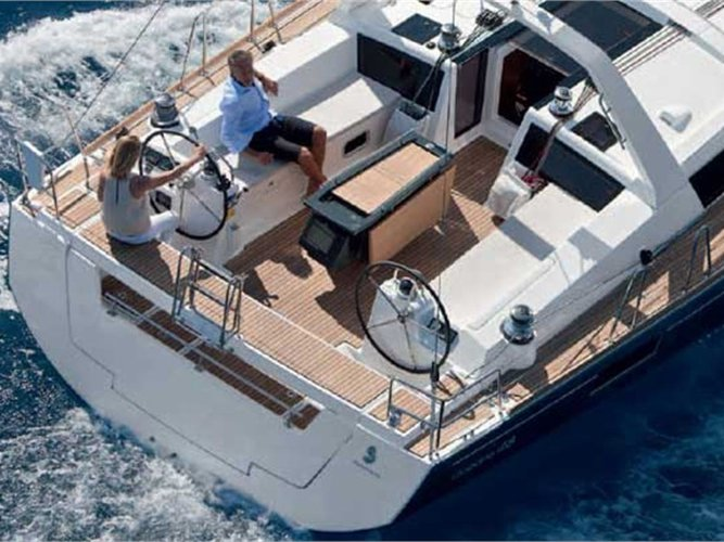 Sail Kaštel Gomilica, HR waters on a beautiful Beneteau Oceanis 48