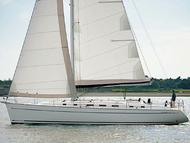Sail the beautiful waters of Rhodes on this cozy Beneteau Cyclades 50.5