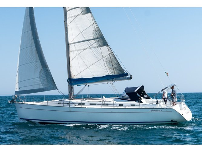 Sail the beautiful waters of Ibiza - Sant Antoni de Portmany on this cozy Beneteau Cyclades 50.4