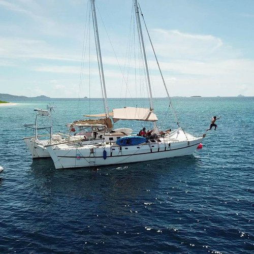 Catamaran boat for rent in Denarau Island