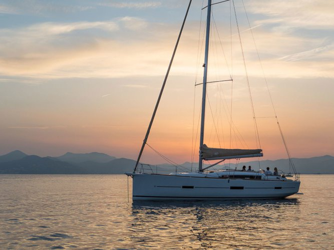 Enjoy luxury and comfort on this Dufour Yachts Dufour 460 in Lefkada