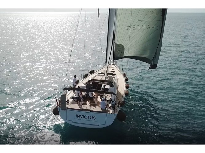 Sail the beautiful waters of Ragusa on this cozy Dufour Yachts Dufour 56 Exclusive